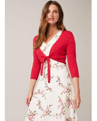 Phase Eight Ana Tie Front Knit Cover Up - Red