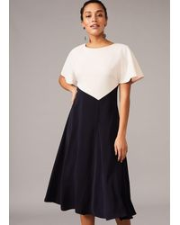 Phase Eight Ivee Colourblock Swing Dress - Blue