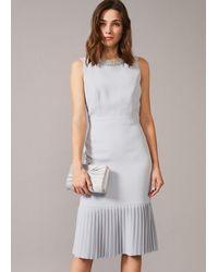 Phase Eight - Nikia Pleated Hem Dress - Lyst