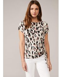 Phase Eight Jinny Abstract Print Top - Multicolour