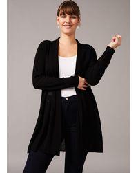 Studio 8 Sizes 16-26 Black Mia Sheer Knit Cardigan