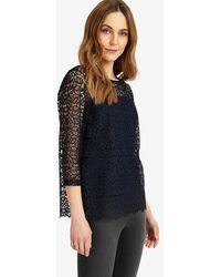 Phase Eight - Odette Lace Top - Lyst