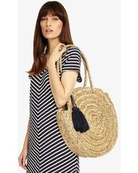 Phase Eight - Mimi Straw Shopper With Tassels Bag - Lyst