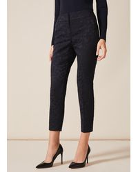 Phase Eight Lil Jacquard Trousers - Blue