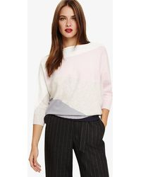 Phase Eight - Lorrie Intarsia Knitted Jumper - Lyst