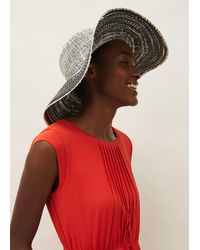 Phase Eight Tali Multi Stripe Straw Hat - Multicolour
