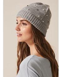 Phase Eight Joni Jewel Hat - Grey