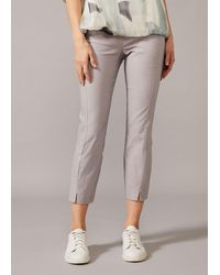 Phase Eight Louise Crop Trousers - Grey