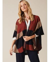 Phase Eight Nel Oversized Cape - Red