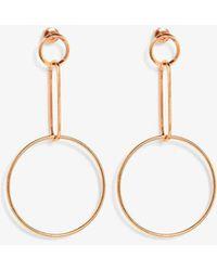 Phase Eight - Yasmina Circle Drop Earrings - Lyst