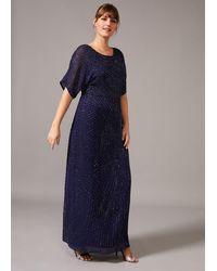 Studio 8 Donnatella Beaded Maxi Dress - Blue