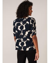 Phase Eight Naava Abstract Floral Top - Blue