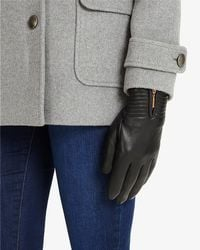 Phase Eight - Zip Leather Gloves - Lyst