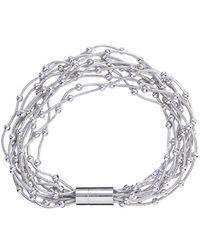 Phase Eight - Silver Dafne Multi Row Bracelet - Lyst
