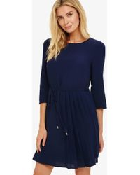 Phase Eight - Michelle Side Pleat Dress - Lyst