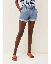 Phase Eight Heidi Denim Shorts - Blue