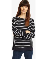 Phase Eight - Calissa Cutabout Stripe Top - Lyst