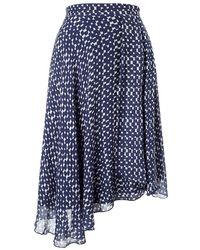 Phase Eight - Quin Printed Asymmetric Skirt - Lyst