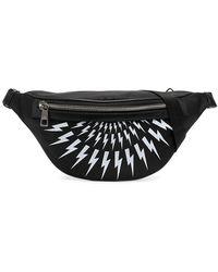 Neil Barrett Thunderbolt Belt Bag - Black