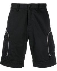 Stone Island Shadow Project Zip Pocket Cargo Shorts - Black
