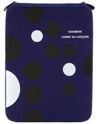 Comme des Garçons Black & White Dots Ipad Case - Blue