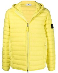 Stone Island Real Down Jacket - Yellow