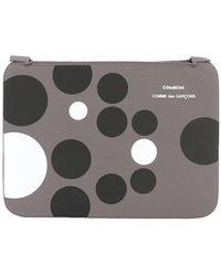 Comme des Garçons Black & White Dots Laptop Case - Grey