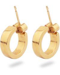 Phira London 9k Gold Dover Earrings - Metallic