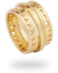 Phira London 9k Gold Electric Ring - Metallic