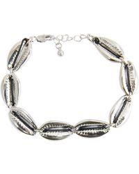 Pieces Schelpenlook Armband Zilver - Metallic