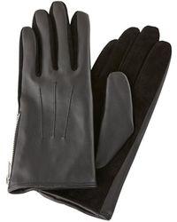 Pieces Ritsdetail Handschoenen - Zwart