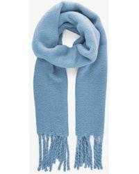 Pieces Effen Gekleurde Lange Sjaal Blauw