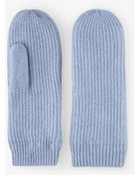 Pieces Gebreide Handschoenen Blauw
