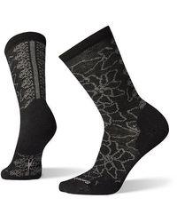 Smartwool Poinsettia Graphic Crew Socks - Black