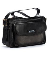 Pikolinos Leather Shoulder Bag Agres Wha - Black