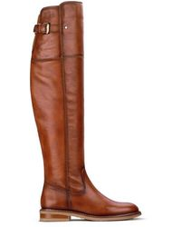 Pikolinos Leather Knee High Boots Aldaya W8j - Brown
