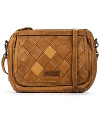 Pikolinos Leather Shoulder Bag Godall Wha - Brown