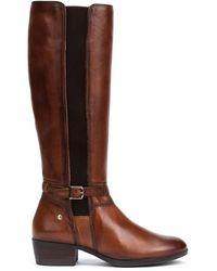 Pikolinos Leather Knee High Boots Daroca W1u - Brown