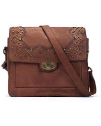 Pikolinos Leather Shoulder Bag Daimuz Wha - Brown