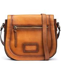 Pikolinos Leather Shoulder Bag Alcora Wha - Brown