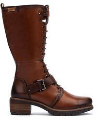 Pikolinos Leather Knee High Boots San Sebastia W1t - Brown