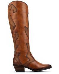 Pikolinos Leather Knee High Boots Vergel W5z - Brown