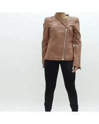 Forever Unique - Lux Leatherette Jacket Tan - Lyst