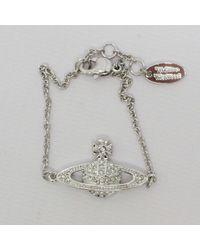Vivienne Westwood - Mini Bas Relief Bracelet Silver - Lyst
