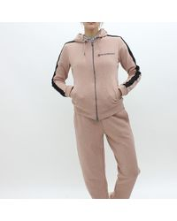 Armani - Emporio Hooded Jersey Top Pink - Lyst
