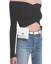 Pixie Market - White Snap Pouch Belt - Lyst