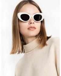Pixie Market - Poms And Pared Gato Sunglasses - Lyst