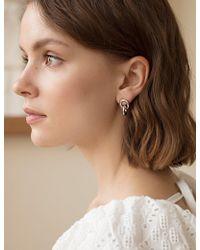 Pixie Market - Double Loop Silver Earrings - Lyst