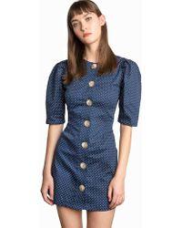 Pixie Market - Mirabel Polka Dot Button Dress - Lyst 05047a153