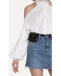 Pixie Market - Black Snap Pouch Belt Bag - Lyst